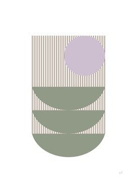 Shapes and Lines in Sage and Lavender
