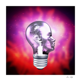 Human Light Bulb Head