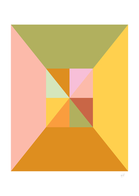 Contemporary Triangles in Earthy Hues