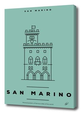 Minimal San Marino City Poster