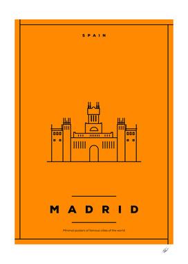Minimal Madrid City Poster