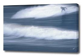 Surfing the winter sea