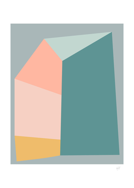Abstract Geometric Shapes in MintPastels