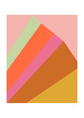 Abstract Geometric Rainbow Mountain