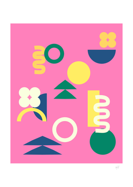 Simple Abstract Whimsy Shapes in Bright Colors