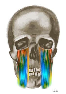 pixel glitch skull