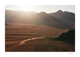 End of desert day