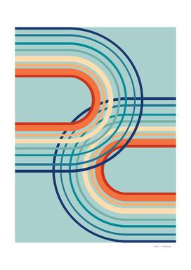 Rainbow Arch Minimal Abstract #2 #decor #art