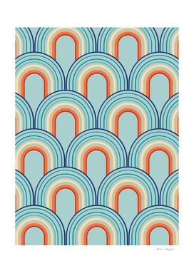 Rainbow Arch Minimal Abstract Wave #2 #decor #art