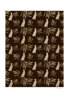 Cheetah Eucalyptus Glam Pattern #1 #tropical #decor #art
