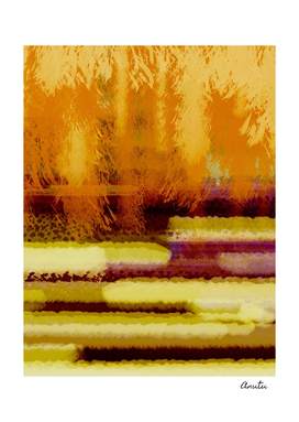 Golden Jungle Abstract