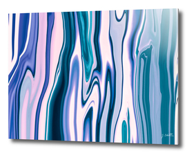 Pour Acrylic Marble Blue Waves