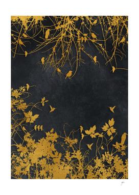 Gold And Black Floral #goldblack #floral