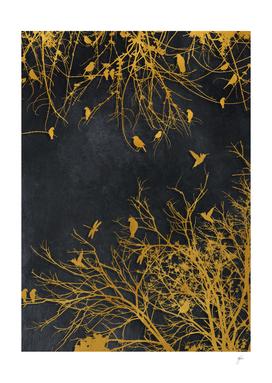 gold and black floral #goldblack