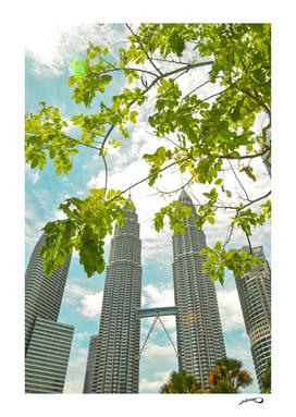 Petronas towers by #Bizzartino