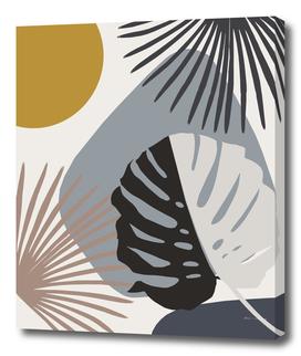 Minimal Yin Yang Monstera Fan Palm Finesse #2 #tropical