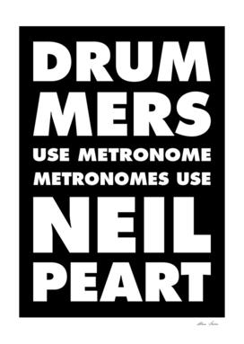 Drummer Metronome, Neil Peart