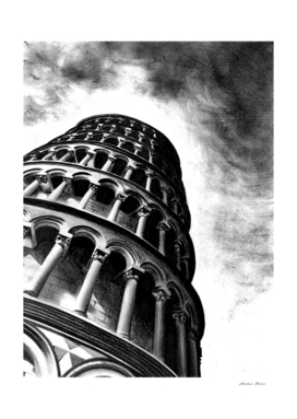 Tower of Pisa - Illustrated