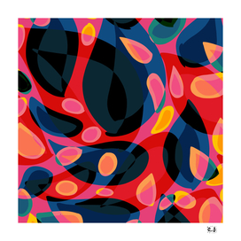 Psychedelic Abstract Art colorful Pop