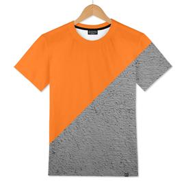 Cement vs orange diagonal color block