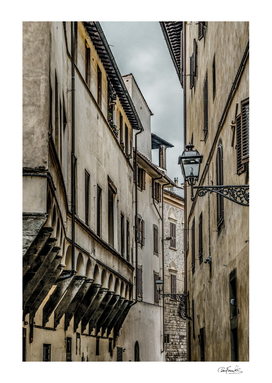 Houses at Historic Center of Florence, Italy