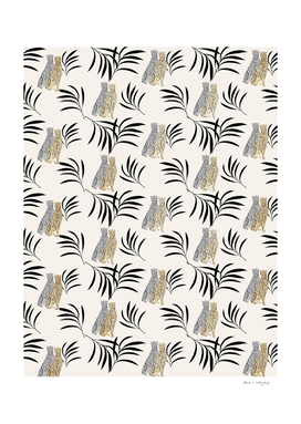 Cheetah Eucalyptus Glam Pattern #2 #tropical #decor #art