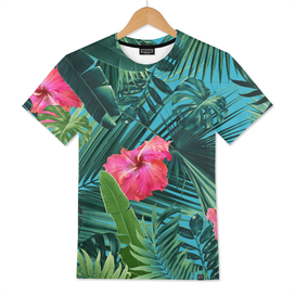 Tropical Hibiscus Flower Jungle Pattern #1 #tropical #decor