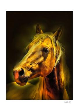 Ginger Horse Portrait