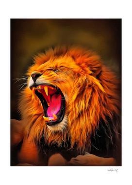 Roaring Lion King Portrait