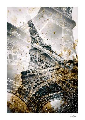 Eiffel Tower | Vintage gold
