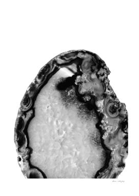Gray Black White Agate #3 #gem #decor #art