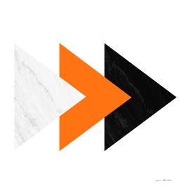 Forward marble orange arrows collage