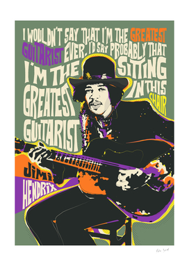 Guitar God Pop Art Quote