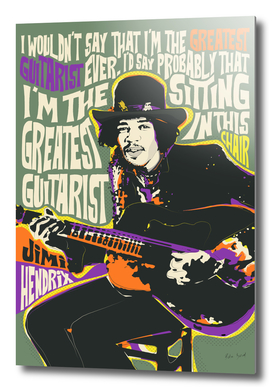 Guitar God Pop Art Quote