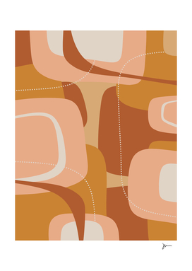 Mooma 2 Midcentury Modern Abstract in Earth Tones