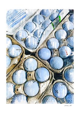 Golf Balls In Eg Tray