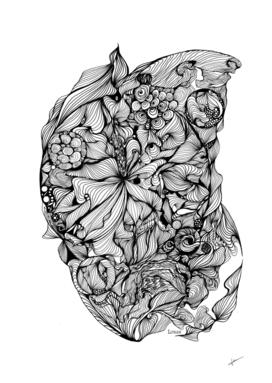 Invocation - Florale N&B