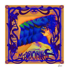 Art Nouveau Madonna blue blue blue