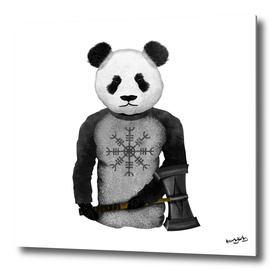 Panda Viking Warrior