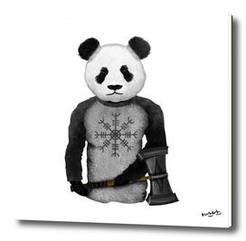 Panda Viking Warrior