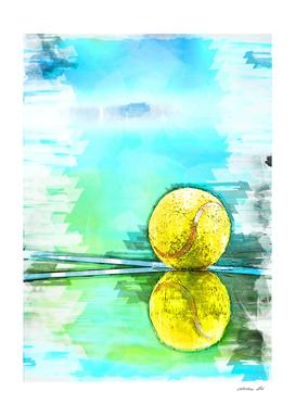 Tennis Ball Reflection Sketch