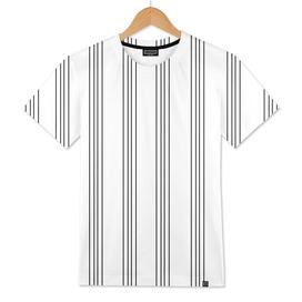 Minimal Black White Stripe Glam #3 #lines #decor #art