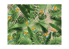 Bird of Paradise Jungle Leaves Dream #2 #tropical #decor