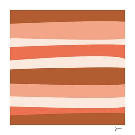 Groovy Stripes Minimalist Pattern in Peachy Earth Tones