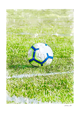 Soccer ball On Pitch