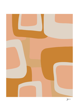 Midcentury Modern Abstract in Blush Tones