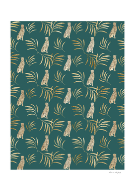 Cheetah Eucalyptus Glam Pattern #3 #tropical #decor #art