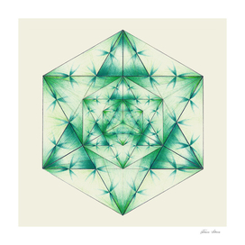 Merkaba -Green Cube Metatron