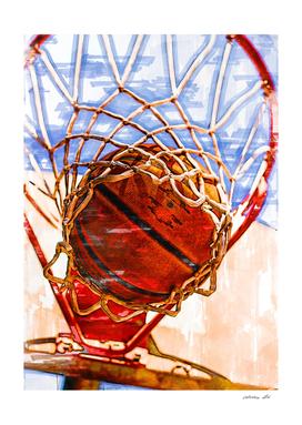 Basketball Hoop Action Marker Sketch.