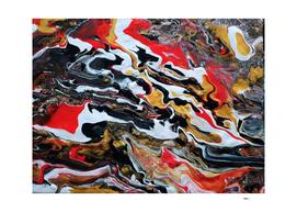 Photo Abstrait Acrylic Peinture Rouge/Noir